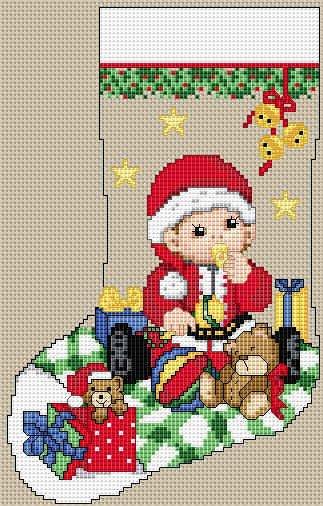 Вышивка крестом на тему рождество