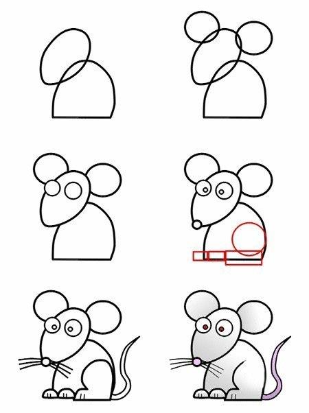 Научиться рисовать очень просто, если знать, как.  Предлагаем вам сегодня пошаговые схемы рисования животных.