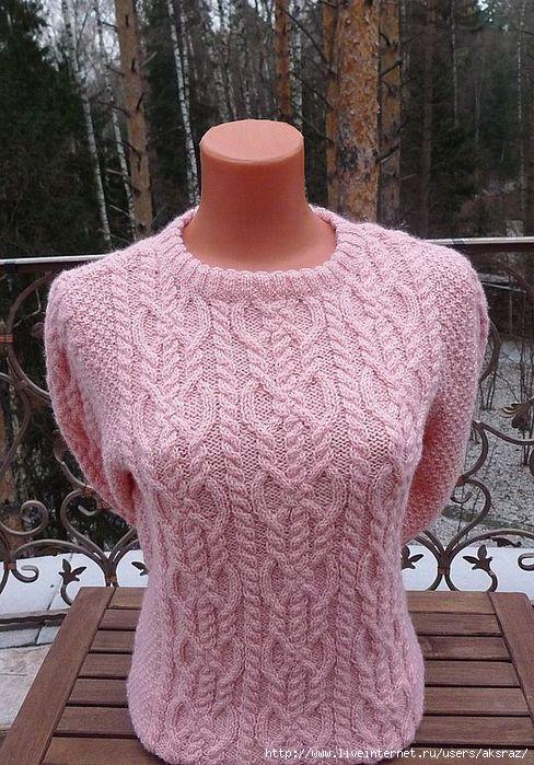 Связать шерстяной свитер женский