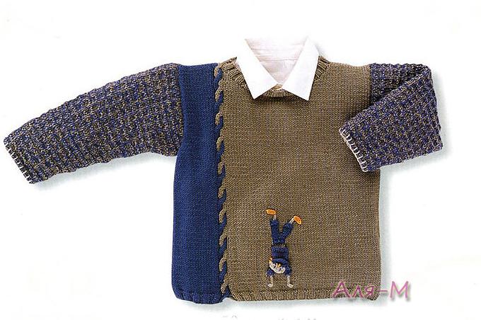 针织:男孩毛衣 - maomao - 我随心动
