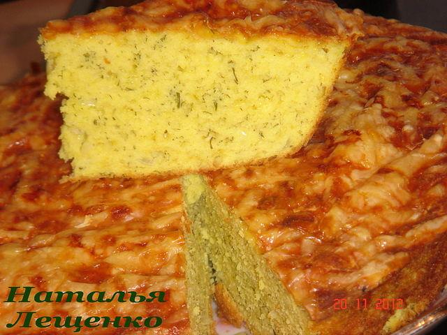 Рецепт из кукурузной муки пирог
