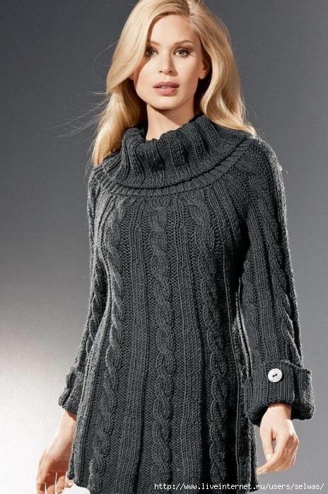 Свитер-платье женское спицами/4683827_2683300953000589340 (464x700, 248Kb)