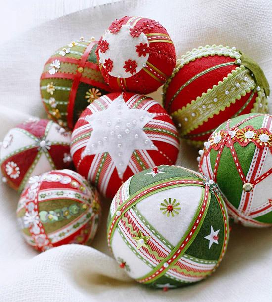 Новогодние шары своими руками из фетра