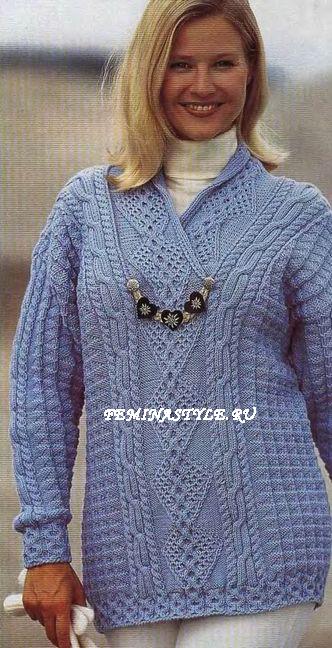 Пуловер с воротником шалька,