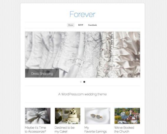 Лучшие темы WordPress для свадебных сайтах Фотографии