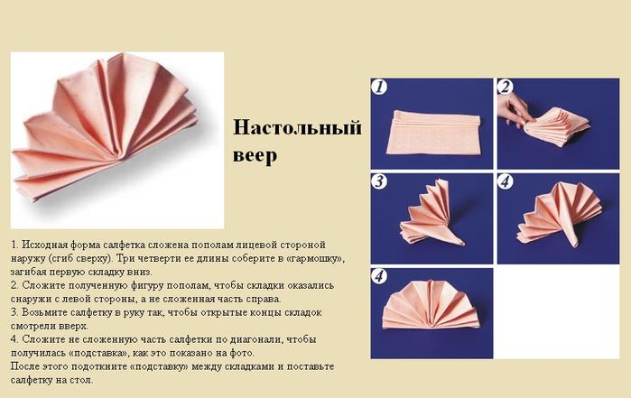 Как сложить бумажные салфетки для праздничного стола