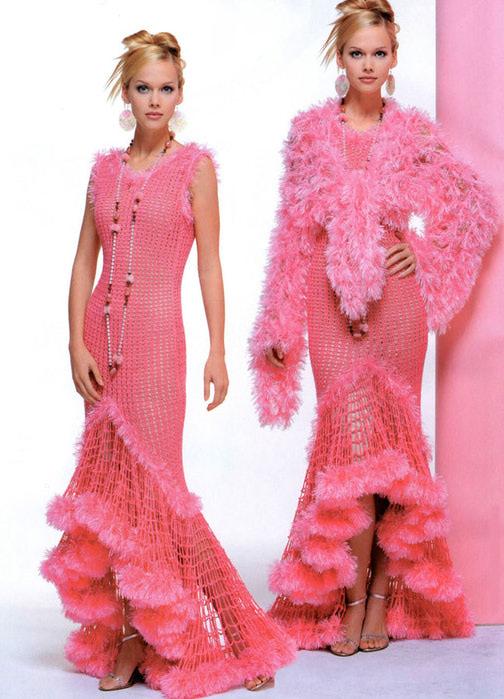 Вязаное вечернее платье своими руками