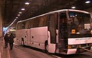Четыре автобуса столкнулись в Кутузовском тоннели, в Москве. Фотографии