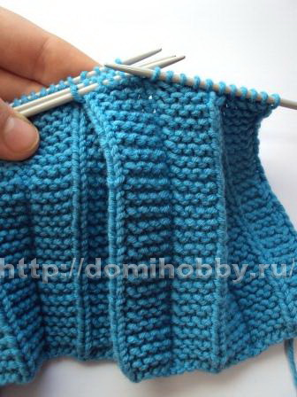 Вариант вязания плиссе со