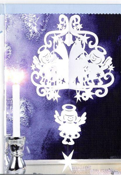 Новогодние украшения подвесные из бумаги своими руками