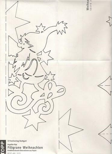 Объемные украшения из бумаги на новый год