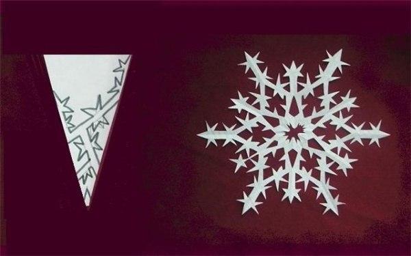 Схемы бумажных снежинок к