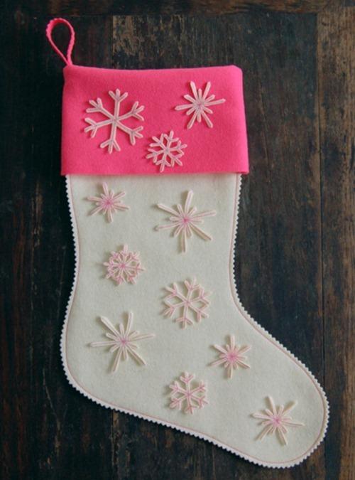Новогодние носки своими руками фото