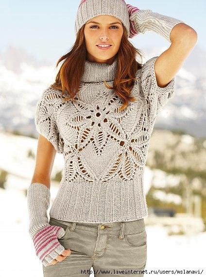 вязание спицами пуловеры (424x572, 171Kb)