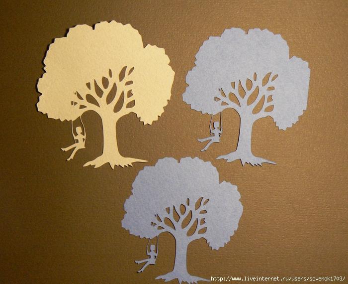 Деревья вырезанные из бумаги своими руками