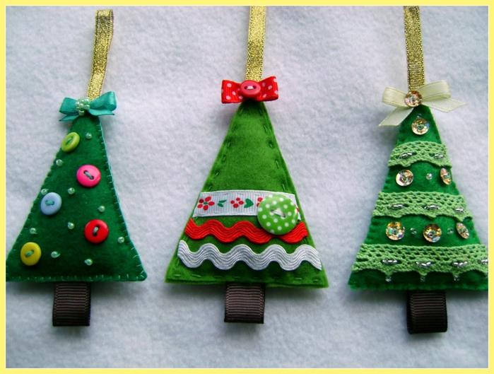 Новогодние игрушки своими руками елочки