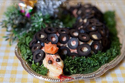 Закуска «Селедка в змеиной шубе»