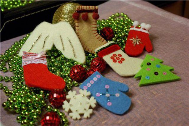 Подарки к новому году своими руками из фетра