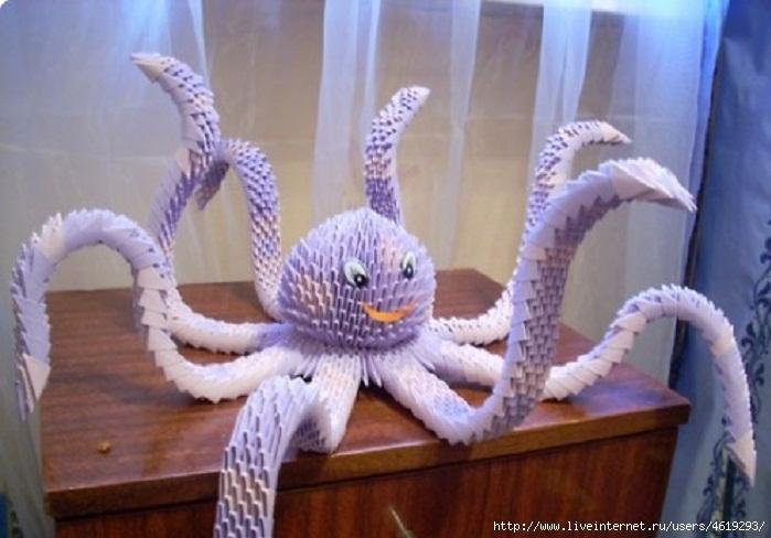 Как сделать большого осьминога