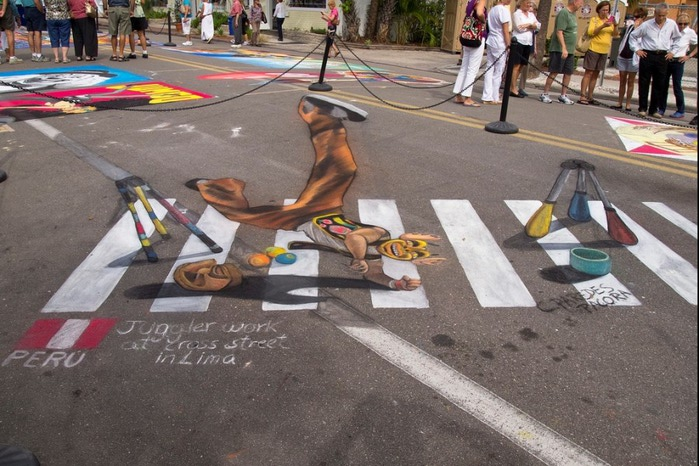 ��������� ������� ����� 'Sarasota Chalk Festival 2012'