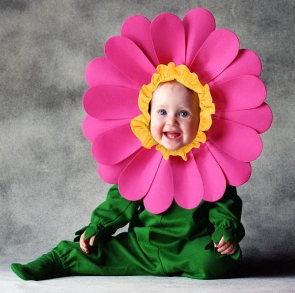 Как вставить ребёнка в цветок