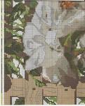 Схема вышивки Белые розы (Riolis) 6 из 6.