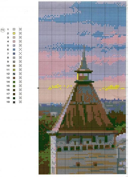 Схема и ключ к вышивке Астрахань (Riolis) 1 из 4.