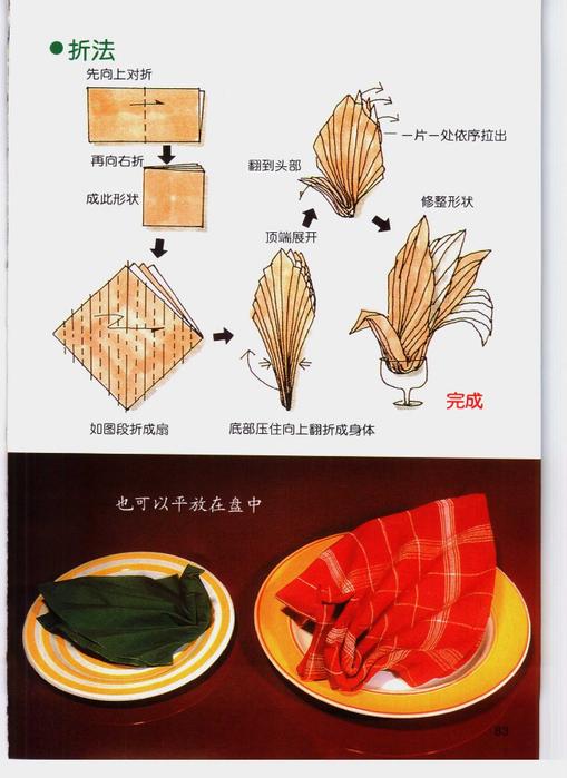 Оригами из салфеток своими руками пошаговое фото 526