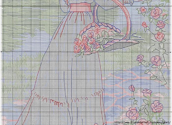 Схема для вышивки летняя прогулка