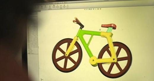 Изобретение велосипеда. Израильский велосипед из картона