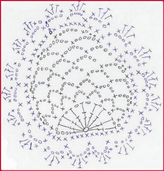 Схема вязания крючком лепестков 33
