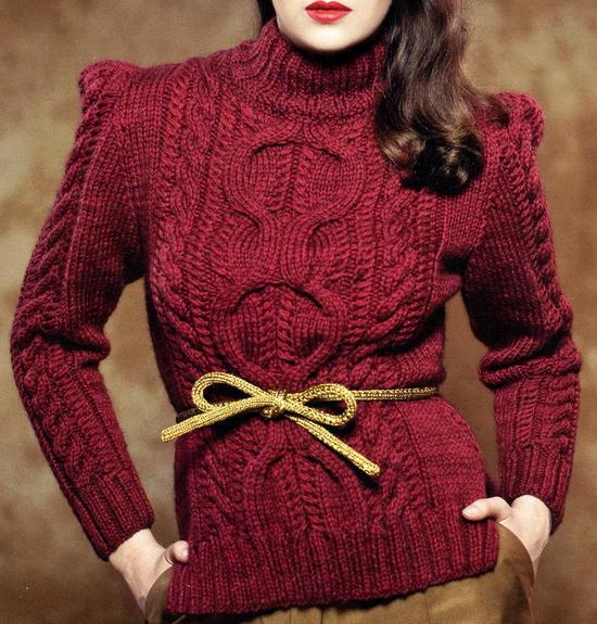 Джемпер женский с ирландским узором вязаный спицами/4683827_20121128_132910 (550x575, 354Kb)