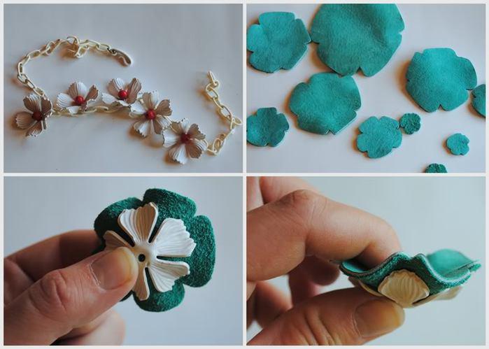 Цветы из остатков кожи своими руками