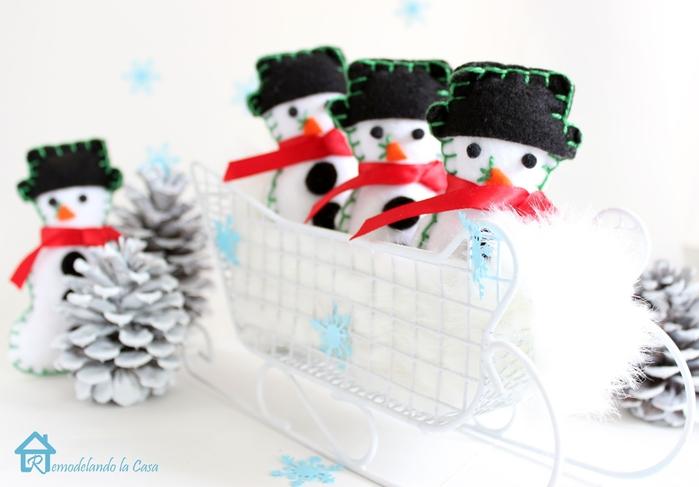снеговик из войлока<br />