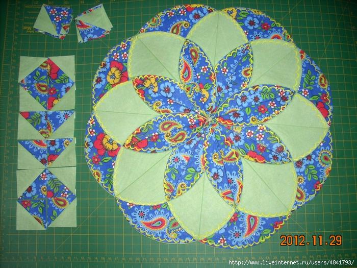 Лоскутное шитье из кругов