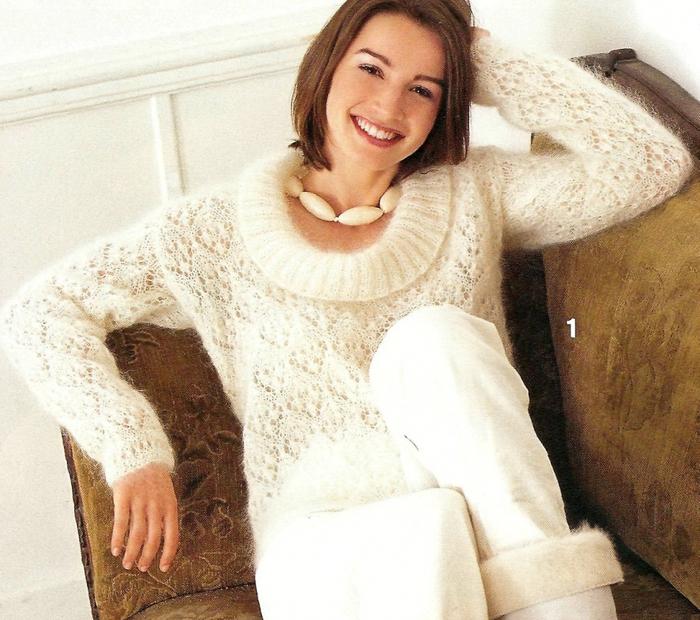 20 апр 2014 Метки: вязание спицами вязание из мохера ажурное вязание пуло..