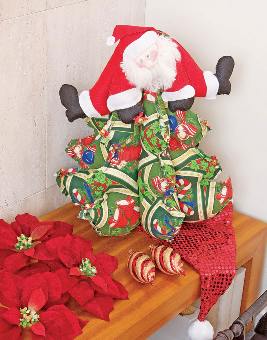 Шьем елочку с Санта-Клаусом. Выкройки