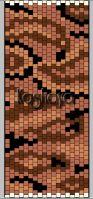 В данной статье представлено 7 схем по плетению браслетов из бисера с узором змеиной шкуры мозаичной техникой.