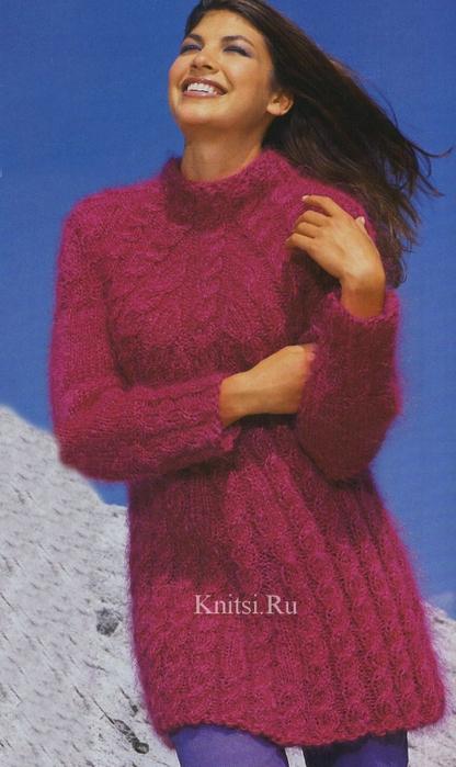 пуловер-туника (416x700, 225Kb)