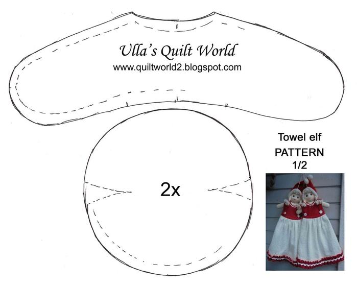 09 Tonttu Towel elf quilt pattern 2 pix OK (700x560, 101Kb)