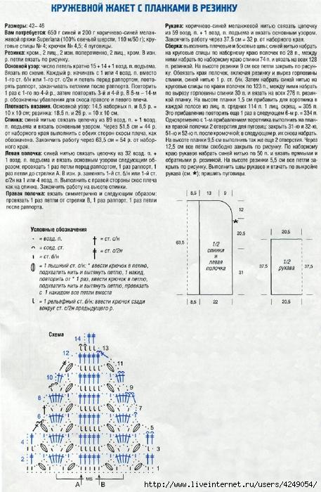 Вязание планок для жакетов 66