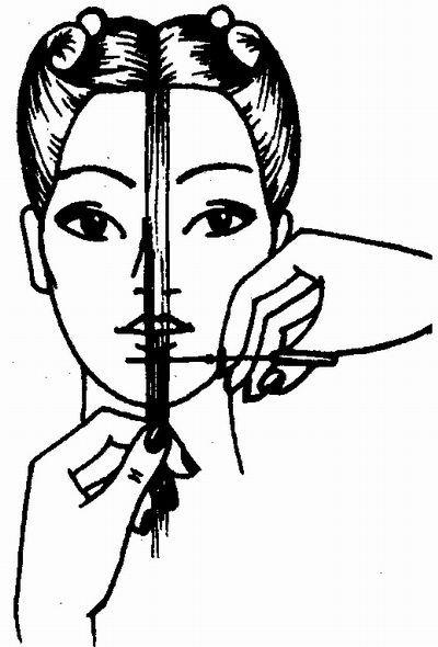 """Филировку на длинные волосы можно делать на...  Определение наименьшей длины волос в стрижке  """"Каскад """" на длинные..."""
