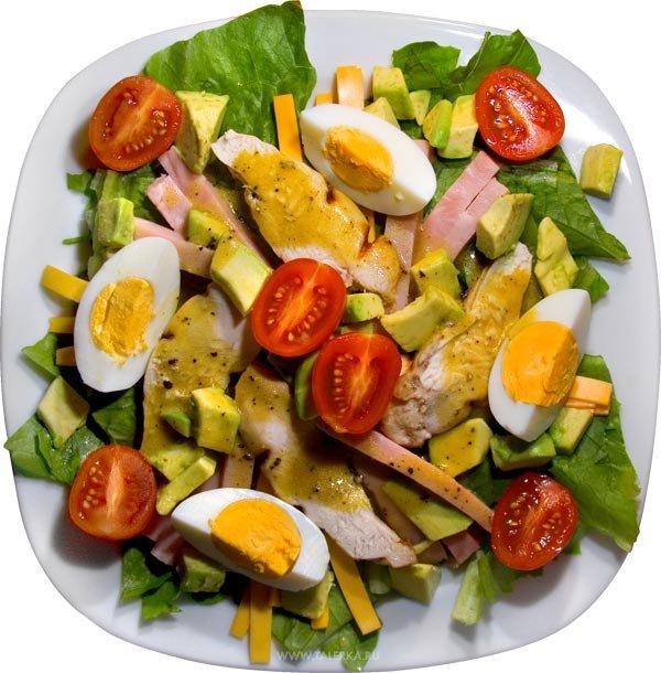 американский салат (600x610, 80Kb)