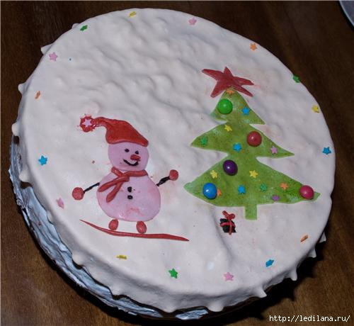 торт новогодний---- -- (500x460, 95Kb)