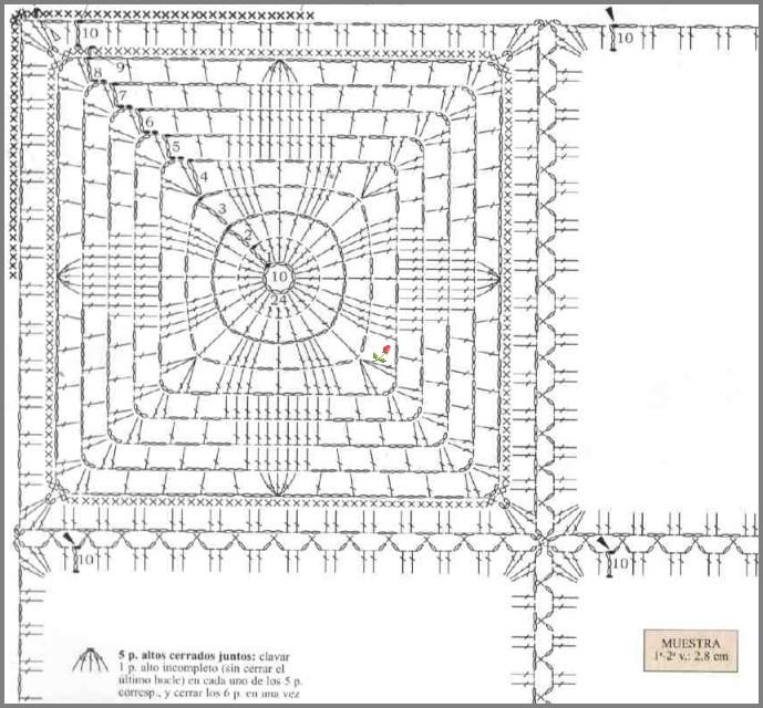 Схемы вязания наволочек на подушки крючком схемы 50