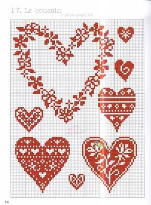 ... b крестом /b ко Дню Св. Валентина b Вышивка/b.