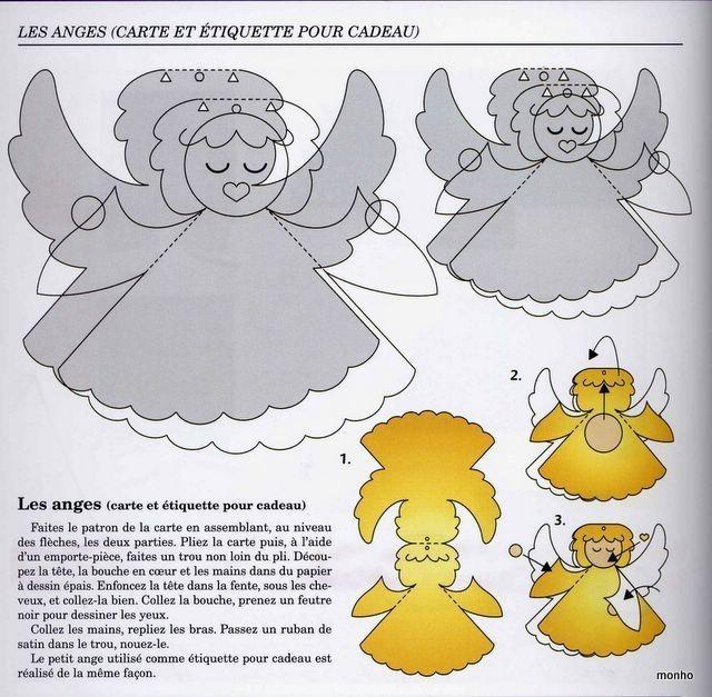 Открытки объемные своими руками с ангелами