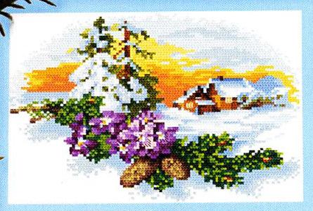 Схемы вышивки зимних пейзажей