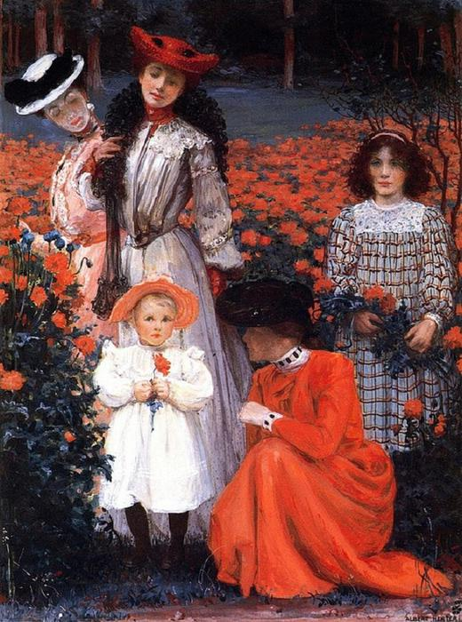 Albert Herter - The Family Group (520x700, 85Kb)