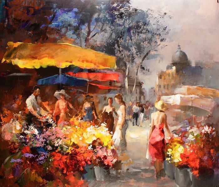 Willem Haenraets 1940 - Hollandaise Impressionist painter - Tutt'Art@ (700x598, 107Kb)